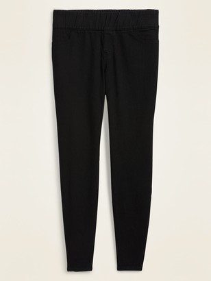 Old Navy Mid-Rise Super Skinny Plus-Size Black Jeggings