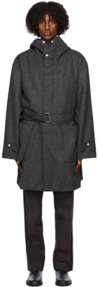 3MAN Grey Wool Herringbone Coat