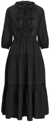 Lauren Ralph Lauren Ralph Lauren Checked Cotton Dobby Dress
