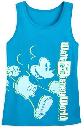 Disney Mickey Mouse Neon Tank Top for Women Walt World Blue