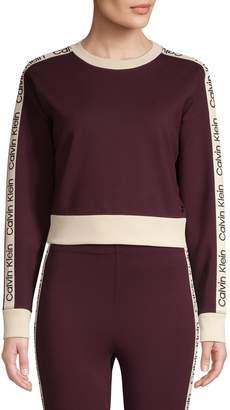 Calvin Klein Logo Striped Sweatshirt