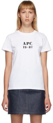 A.P.C. White Eliza T-Shirt