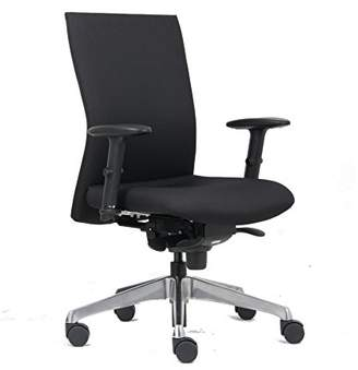 Euroseats NEN 1335 Vienna Professional/Multi-Functional/Ergonomic/Executive/Office Chair, Fabric, Black/Chrome