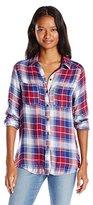 Self Esteem Juniors Long Sleeve Plaid Button up Shirt