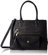 MG Collection Tote Texture Satchel Bag