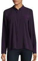 T Tahari Tribeca Point Collar Blouse