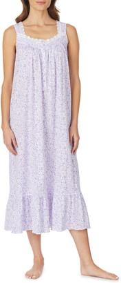 Eileen West Ballet Sleeveless Lace Trim Nightgown