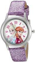 Disney Infinity Kids' W002506 Frozen Elsa & Anna Analog Display Analog Quartz Purple Watch