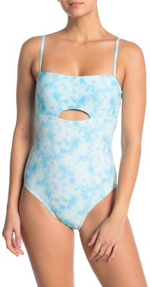 Vyb Printed Front Cutout One-Piece Swimsuit