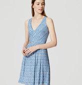 LOFT Dash Stripe Cutout Flare Dress