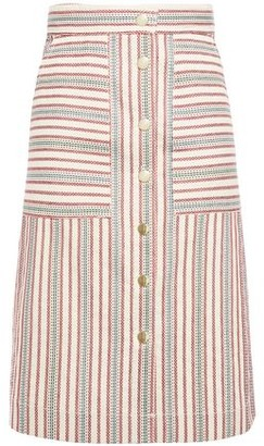 Vanessa Bruno Striped Cotton-blend Skirt