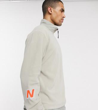 New Balance Utility Pack half zip sweater in beige exclusive to ASOS