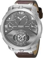 Diesel Men's DZ7360 Machinus Stainless Steel Leather Watch