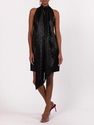 Givenchy Neck Scarf Mini Dress