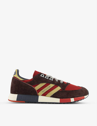 adidas Boston Super nylon and suede trainers