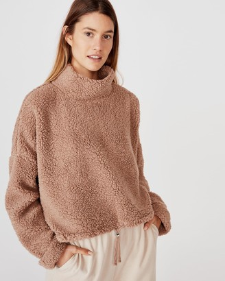 Cotton On Funnel Neck Teddy Pullover