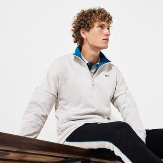 Lacoste Men's SPORT Zip Standup Neck Cotton Sweatshirt