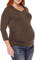 Asstd National Brand Planet Motherhood Maternity Long-Sleeve Knit Hoodie - Plus