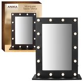 Anika Battery Operated Free Standing LED Marquee Mirror, Black