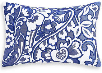 "Charter Club Damask Designs Blue Paisley 12"" x 18"" Decorative Pillow, Bedding"
