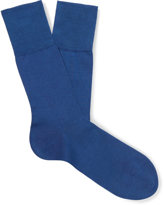 Falke Tiago Stretch Fil d'Ecosse Cotton-Blend Socks - Men - Blue