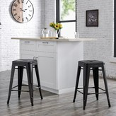 "Laurèl Meriden Bar & Counter Stool Foundry Modern Farmhouse Color: Matte Black, Upholstery: Matte Black, Seat Height: Bar Stool (30"" Seat Height)"
