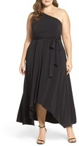 Vince Camuto Plus Size Women's One-Shoulder Jersey Midi Dress