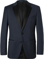 Hugo Boss - Navy Hence Slim-fit Super 120s Virgin Wool Tuxedo Jacket