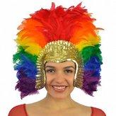 Zucker Feather Products HDCSS--RAINBOW Headdress Sectioned Rainbow