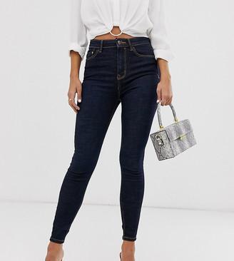 Stradivarius super high waist jean in blue