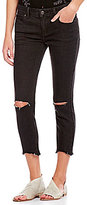 Free People Frayed Hem Destroyed Skinny Ankle Jeans