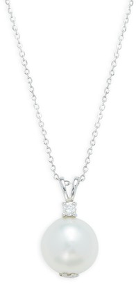 Tara Pearls 14K White Gold, Diamond 13MM South Sea Cultured Pearl Pendant Necklace