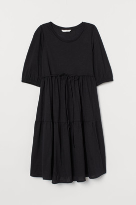 H&M MAMA Cotton Jersey Dress - Black