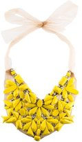 Vera Wang Beaded Silk Statement Necklace