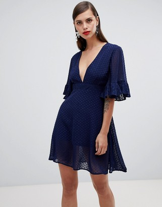 UNIQUE21 Unique 21 v neck smock dress