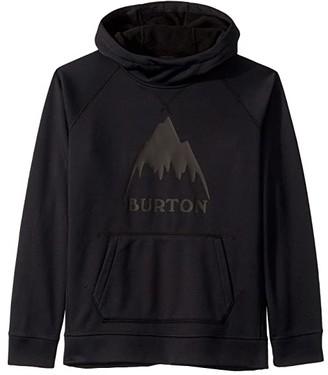 Burton Crown Bonded Pullover Hoodie (Little Kids/Big Kids) (True Black 1) Boy's Sweatshirt
