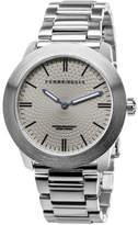 Perry Ellis Unisex Slim Line Grey Stainless Steel Watch