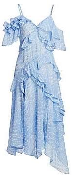 Tanya Taylor Women's Adriana Cold-Shoulder Ruffled Dress