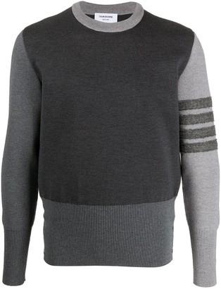 Thom Browne Contrast Sleeve Cashmere Jumper