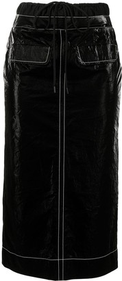 REJINA PYO Taylor flap-pocket cotton skirt