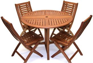 Outdoor Interiors Eucalyptus 5Pc Dining Set