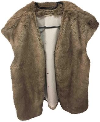 Ikks Brown Faux fur Jacket for Women