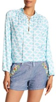 Macbeth Collection Printed BFF Blouse