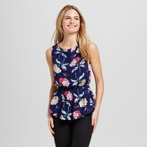 ISANI for Target Women's Floral Printed Cinched Waist Blouse