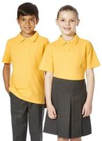 F&F School 2 Pack of Unisex Polo Shirts with As New Technology