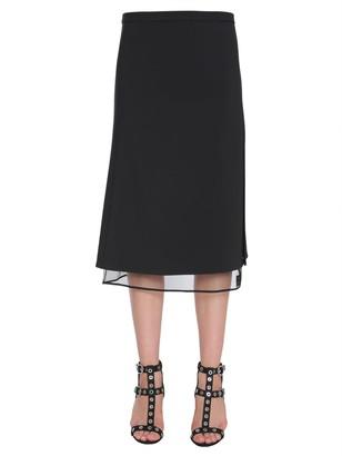 Versace Midi Crepe Skirt