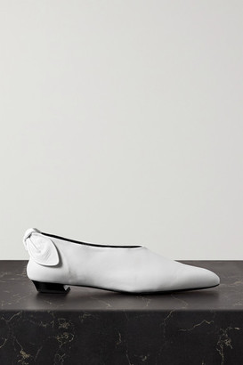 Proenza Schouler Bow-embellished Leather Ballet Flats - White