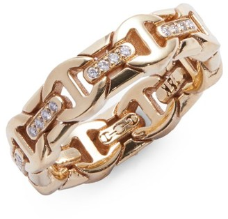 Hoorsenbuhs Wall Dame Tri-Link 18K Yellow Gold & Diamond Ring