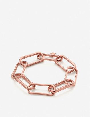 Monica Vinader Alta Capture Charm 18ct rose gold-vermeil large link bracelet