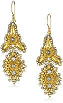 Miguel Ases Beaded 14K Filled Mini 3-Point Drop Earrings